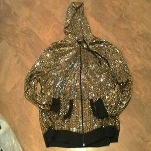 """Ashley Stewart""Sequined Hooded Jacket SZ.22/24"